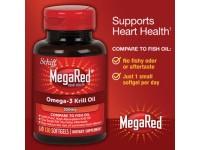 Schiff MegaRed南极磷虾油Omega-3 350mg三倍鱼油 130粒