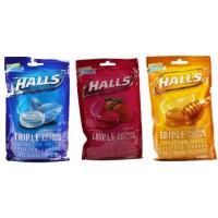 Halls荷氏润喉糖 4袋装每袋80粒